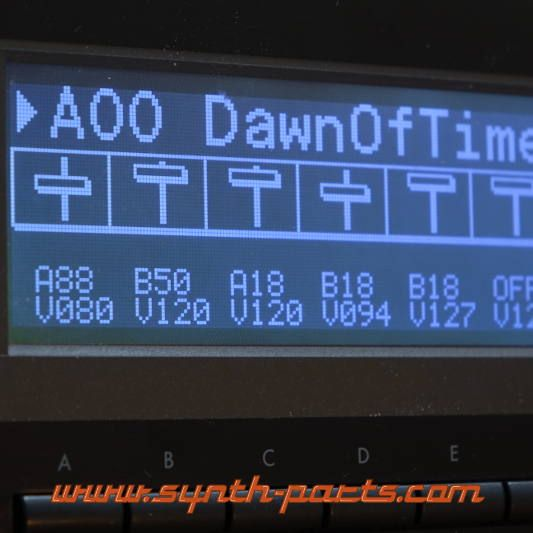 LCD Display 5005, Schwarz Korg 01W
