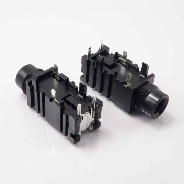 Klinkenbuchse für Printmontage 6,3 mm Mono mit Schaltkontakt
