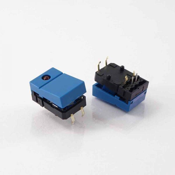 OMR Taster, blaue Wippe + LED rot