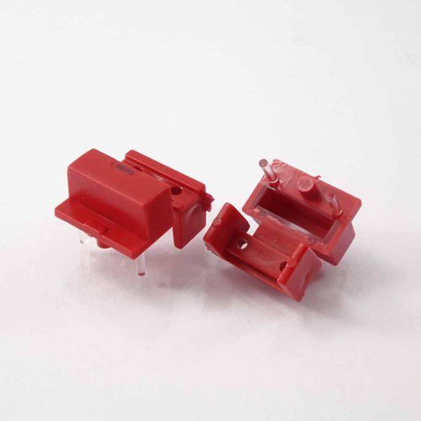 Button einfach 19x7 mm ROT mit Sichtfenster für Pa1, Pa2
