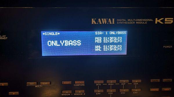 LCD Display Blau mit Kabel für Kawai K5, K5m