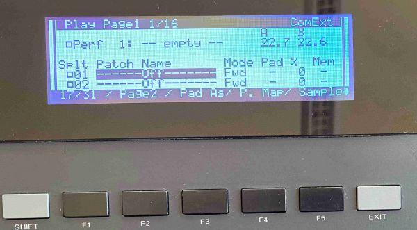 LCD Display Blau für Roland DJ-70
