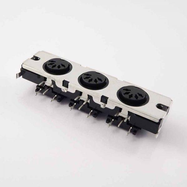 3 fach DIN Buchse 5 Pol MIDI, YKF51-5046