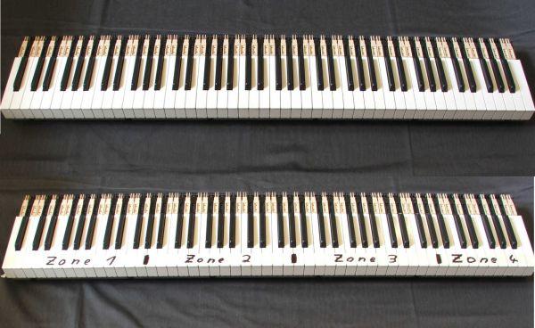 Tasten Roland PHA Tastatur reinweiss