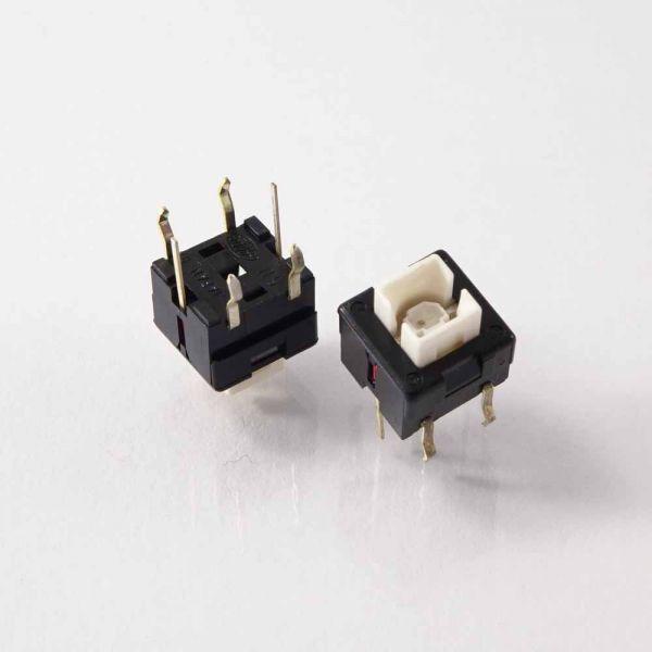 LED-Kurzhubtaster 8 x 8 x 8,5 mm Gelb