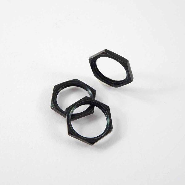 Mutter M12 x 1 mm schwarz für Klinkenbuchse 6,3 mm