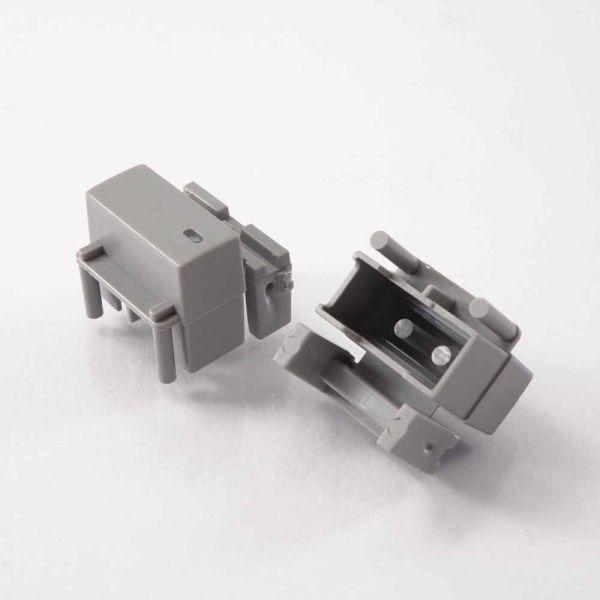Button einfach 19x9 mm mit Sichtfenster für Pa3 hellgrau