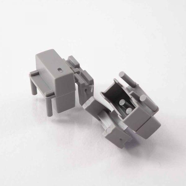 Button einfach 17x7 mm mit Sichtfenster für Pa3 hellgrau