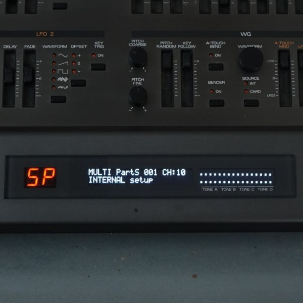 OLED Display Roland JD-800 weiss