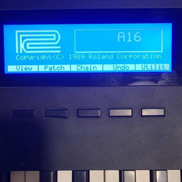 Roland A-80 A-50 neues LCD Display Blau