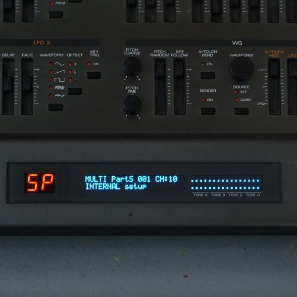 OLED Display Roland JD-800 blau